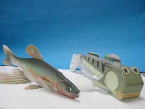 「紫川にすむ生き物紙工作」 @ 水環境館 多目的ホール
